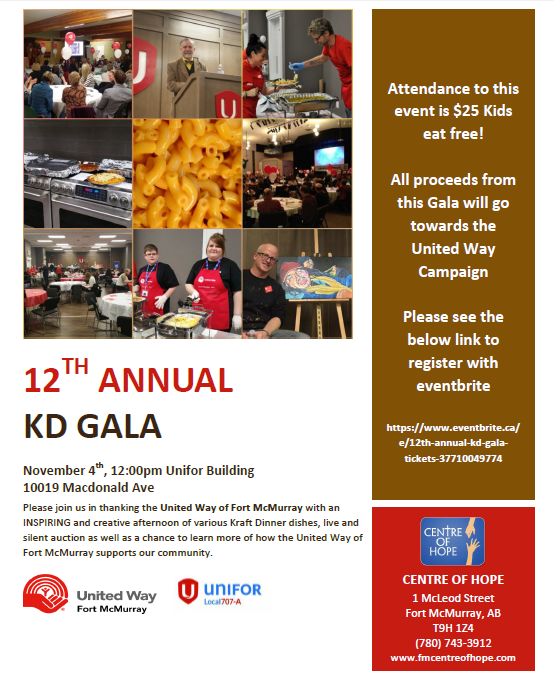 12th annual KD Gala poster
